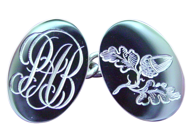 Cufflinks-silver-with-acorn-H.S