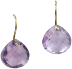 Amethyst faceted drops on french wires