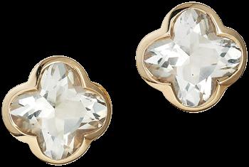 Cocktail green quartz stud earrings