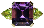 amethyst and peridot dress ring