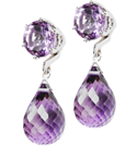 thumb_amethyst studs with detachable briolette drop