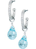 thumb_diamond set hoops with detachable blue topaz drops