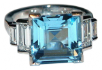 Aquamarine and-diamond-art-deco-style-ring-set-in-18k-white-gold
